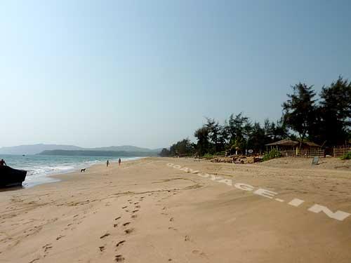 as far as the eye can see view of Agonda beach