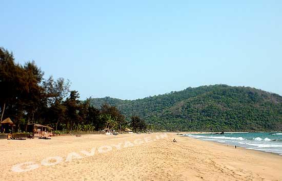 Agonda beach view in South Goa, India