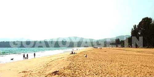 Agonda beach view towards north