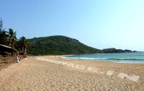 A south view of Agonda beach