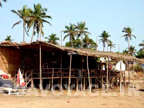 beach shack in anjuna, north goa, india