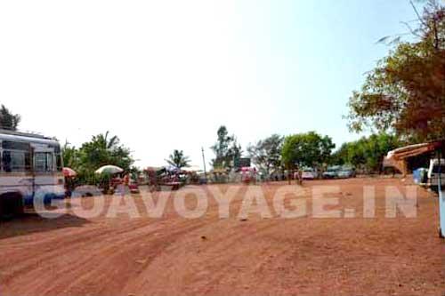 Car parking lot in Anjuna north Goa, India