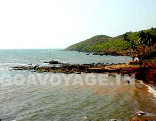 coast in the north of Anjuna, north Goa India
