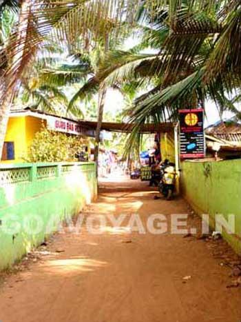 A lane in Anjuna, north Goa, India