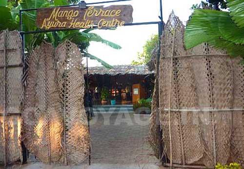 restaurant in Arossim beach, south goa, India