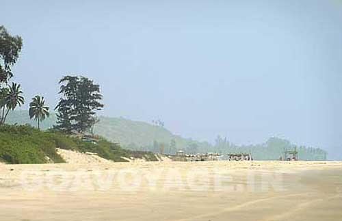 end of Arambol beach, beginning of mandrem beach