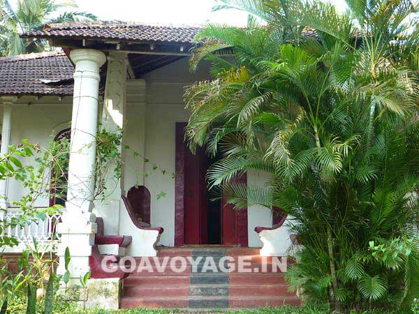 the front entrance of Villa Clemente, an Indo-Portuguese house in South Goa, India.