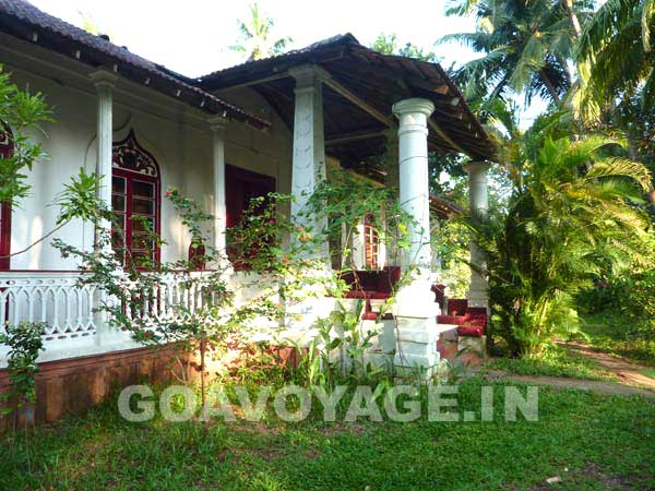 vue du devant de la Villa Clemente, sud Goa, Inde