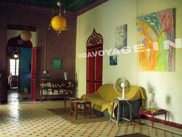 salon maison indo-portugaise, sud goa inde