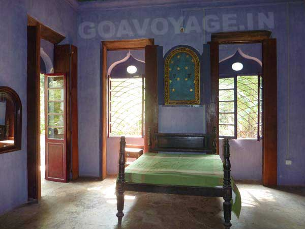 chambre principale, maison indo-portugaise, sud goa inde