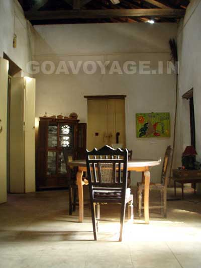 salle à manger maison indo-portugaise, sud goa inde