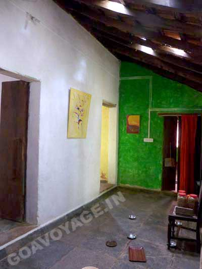 corridor of the service quaters in a heritage house in South Goa, India