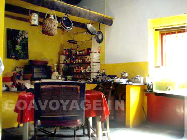 autre vue cuisine, maison indo-portugaise, sud goa inde