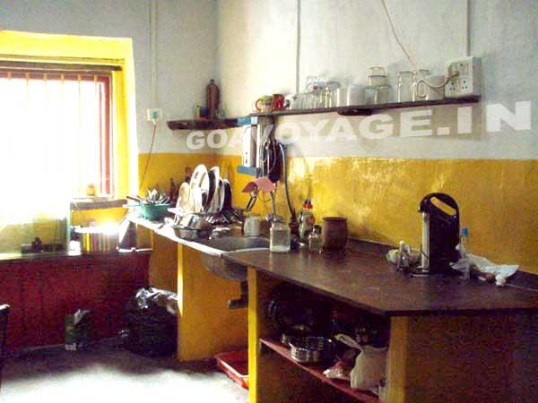 vue cuisine maison indo-portugaise, sud goa inde