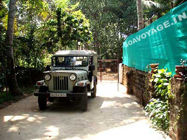 back gate access of an indo-portuguese house in south goa, India