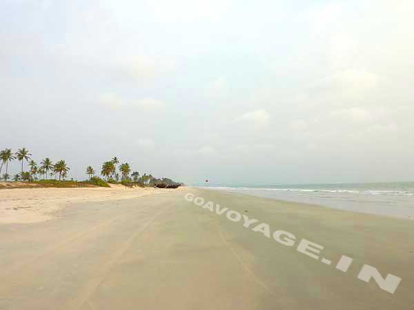 view of the 16 miles beach close to the house in south goa India