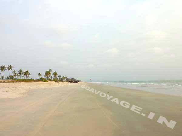 la plage à perte de vue, près de la maison, sud goa inde