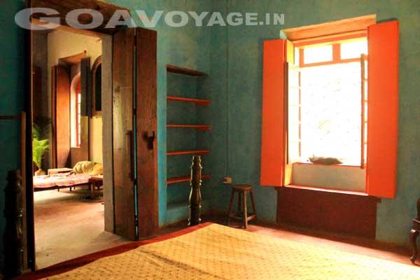 Vue de la chambre, Villa Clemente, sud Goa Inde