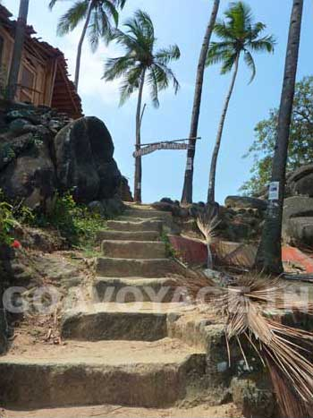 Rock steps in Palolem, South Goa, India