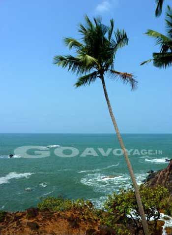 View over the sea, in Palolem, South Goa, India