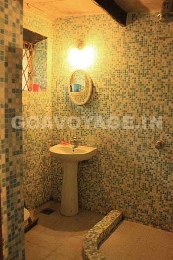 salle de bain de la villa Clemente, dans le sud de Goa en Inde