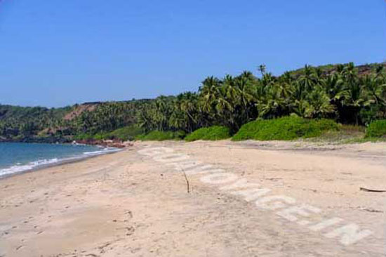 North part of Betul beach, South Goa, India