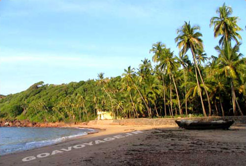 North part of Canaguinim beach, South Goa, India